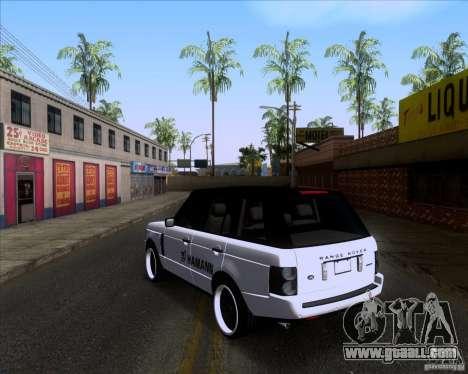 Range Rover Hamann Edition for GTA San Andreas back left view