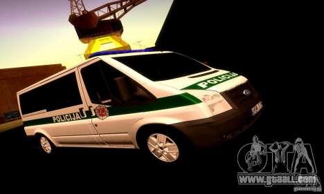 Ford Transit Policija for GTA San Andreas left view