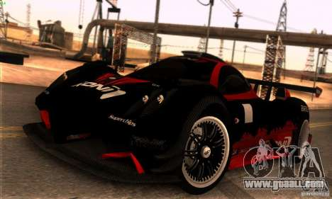 Pagani Zonda R for GTA San Andreas side view