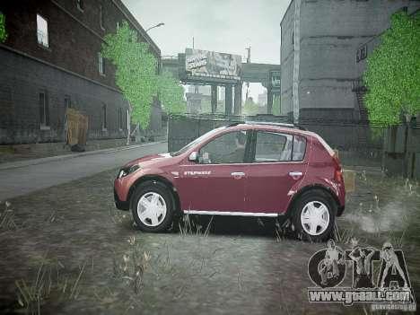 Dacia Sandero Stepway for GTA 4 left view
