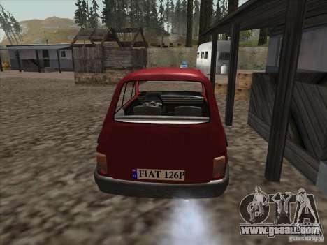 Fiat 126p Elegant for GTA San Andreas back left view