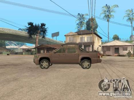 Chevrolet Avalanche for GTA San Andreas left view