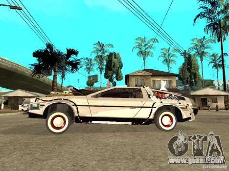 DeLorean DMC-12 for GTA San Andreas left view