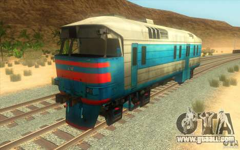 A train from the game half-life 2 for GTA San Andreas left view