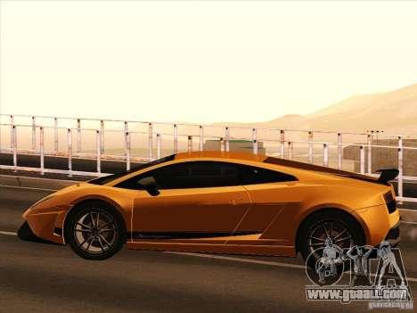 Lamborghini Gallardo Superleggera for GTA San Andreas back left view