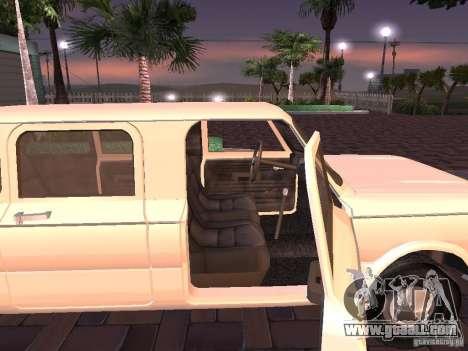 ZAZ 968 m Limousine for GTA San Andreas back left view