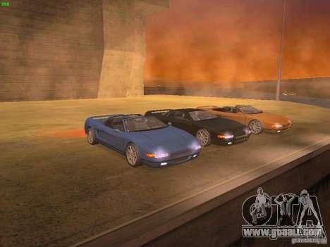 Infernus Revolution for GTA San Andreas back view