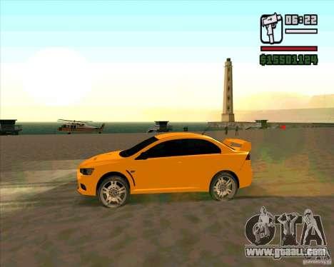 Mitsubishi Lancer Evolution for GTA San Andreas