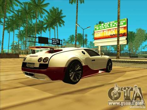 Bugatti Veyron for GTA San Andreas back left view