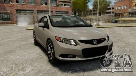Honda Civic Si Coupe 2012 for GTA 4
