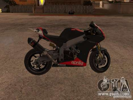 Aprilia RSV4 for GTA San Andreas left view
