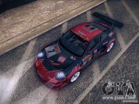 Porsche 997 GT3 RSR for GTA San Andreas bottom view