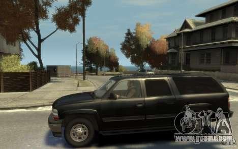 Chevrolet Suburban 2003 FBI for GTA 4 left view
