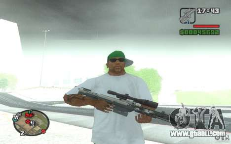 A sniper rifle from a Ballad of Gay Tony for GTA San Andreas