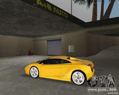 Lamborghini Gallardo v.2 for GTA Vice City back left view