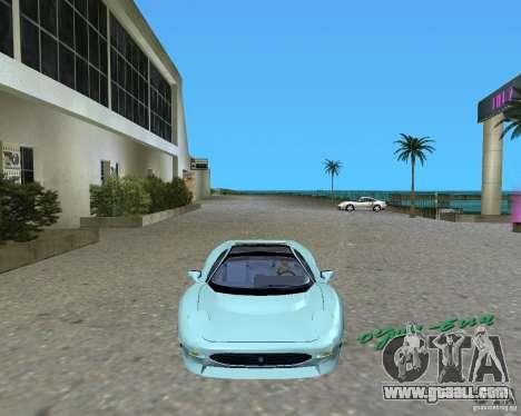 Jaguar XJ220 for GTA Vice City left view