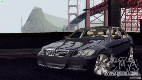 BMW 330i e90 for GTA San Andreas right view
