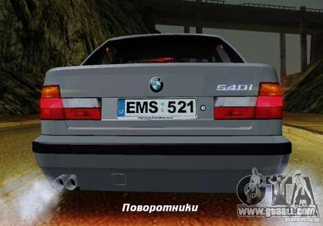 BMW E34 540i Tunable for GTA San Andreas engine