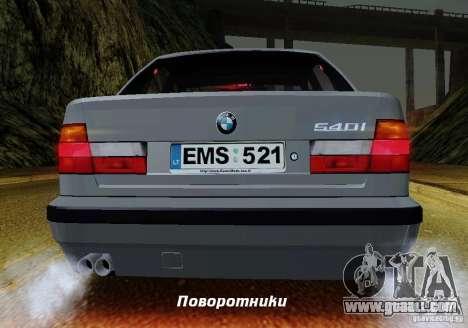 BMW E34 540i Tunable for GTA San Andreas engine