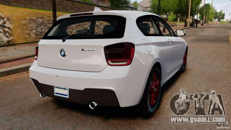 BMW 135i M-Power 2013 for GTA 4 back left view
