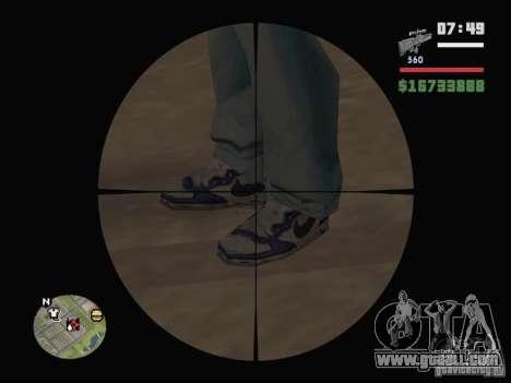 Blue Nike Air Force for GTA San Andreas second screenshot