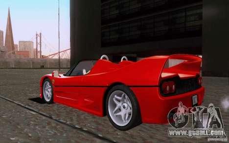 Ferrari F50 v1.0.0 1995 for GTA San Andreas back left view