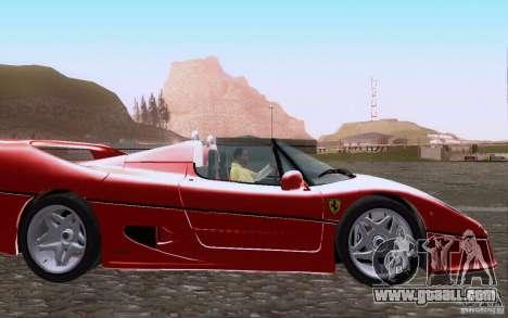Ferrari F50 v1.0.0 1995 for GTA San Andreas inner view