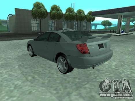 Saturn Ion Quad Coupe 2004 for GTA San Andreas bottom view