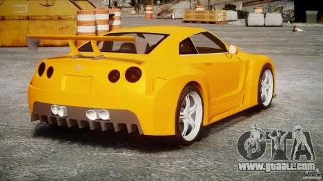 Nissan Skyline R35 GTR for GTA 4 inner view