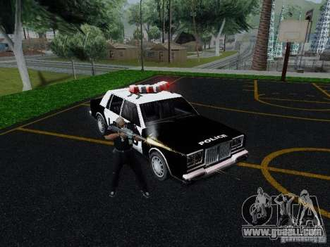 Greenwood Police LS for GTA San Andreas back view