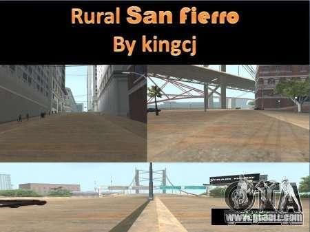 Roads in San Fejro for GTA San Andreas