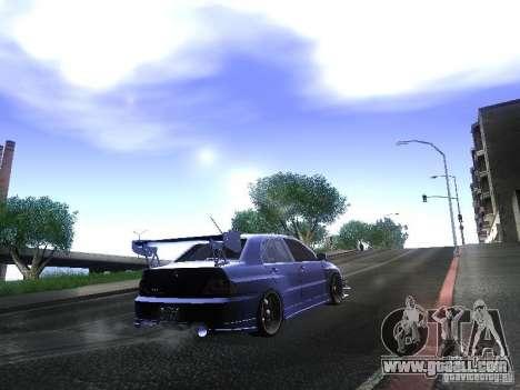 Mitsubishi Lancer Evolution VIII for GTA San Andreas left view