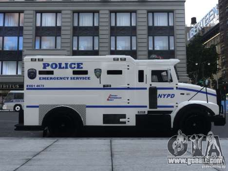 Enforcer Emergency Service NYPD for GTA 4 back left view