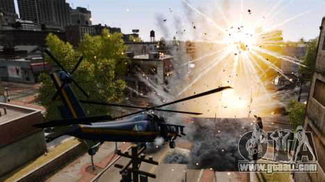 A helicopter with an RPG for GTA 4 right view