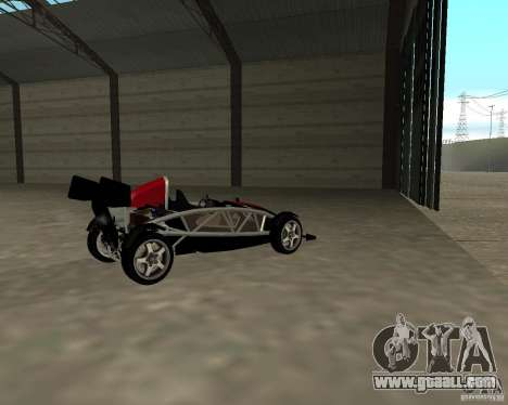 Ariel Atom V8 for GTA San Andreas back left view