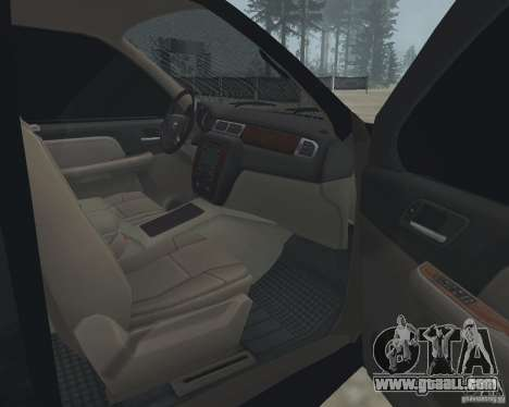 Chevrolet Tahoe BLACK EDITION for GTA San Andreas inner view