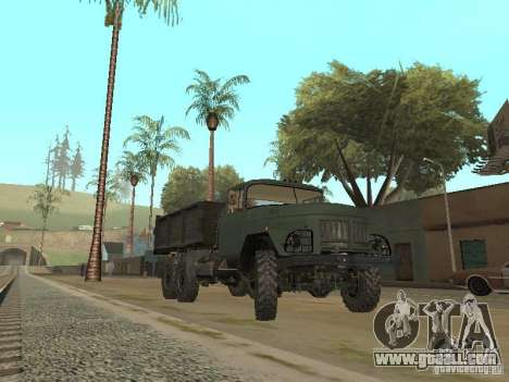 ZIL 131 Truck for GTA San Andreas back left view