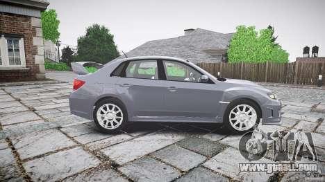 Subaru Impreza WRX 2011 for GTA 4 inner view