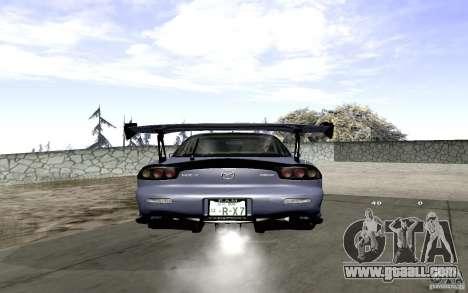 Mazda RX-7 Hellalush for GTA San Andreas back view
