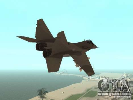 MIG-29 of the COD MW2 for GTA San Andreas back view