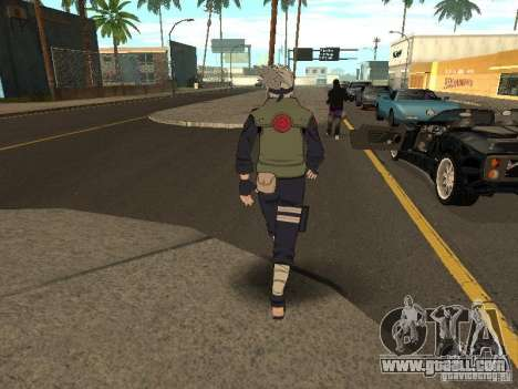 Hatake Kakashi From Naruto for GTA San Andreas third screenshot