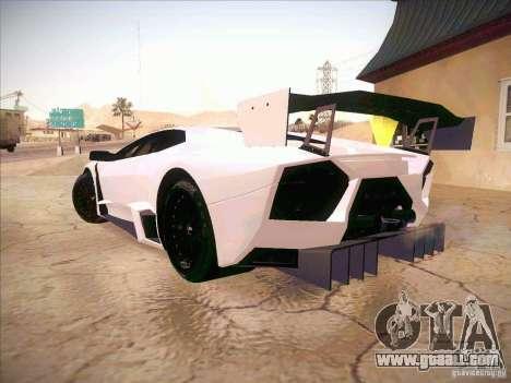 Lamborghini Reventon GT-R for GTA San Andreas left view