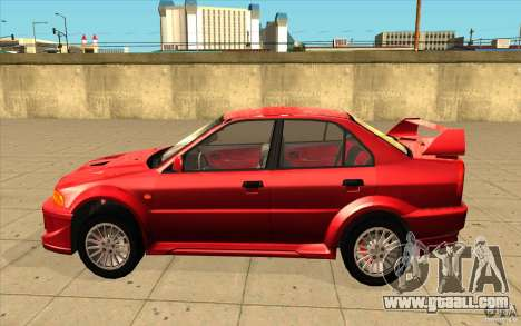 Mitsubishi Lancer Evo 6 for GTA San Andreas left view