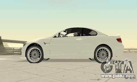 BMW M3 2008 Convertible Hamann for GTA San Andreas right view