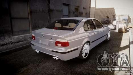 BMW M5 E39 Stock 2003 v3.0 for GTA 4 upper view