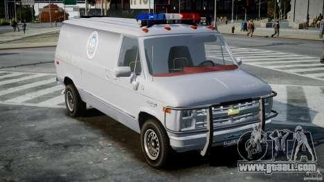Chevrolet G20 Police Van [ELS] for GTA 4 right view