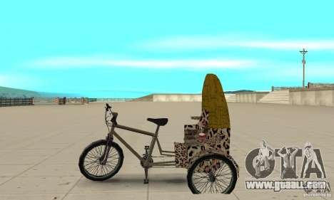 Manual Rickshaw v2 Skin4 for GTA San Andreas left view