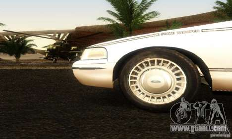 Ford Crown Victoria Ohio Police for GTA San Andreas right view