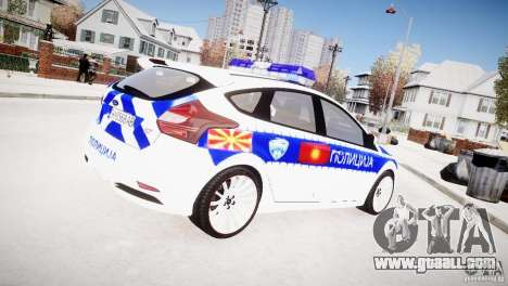Ford Focus Macedonian Police for GTA 4 back left view
