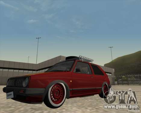 VW Golf II Shadow Crew for GTA San Andreas inner view